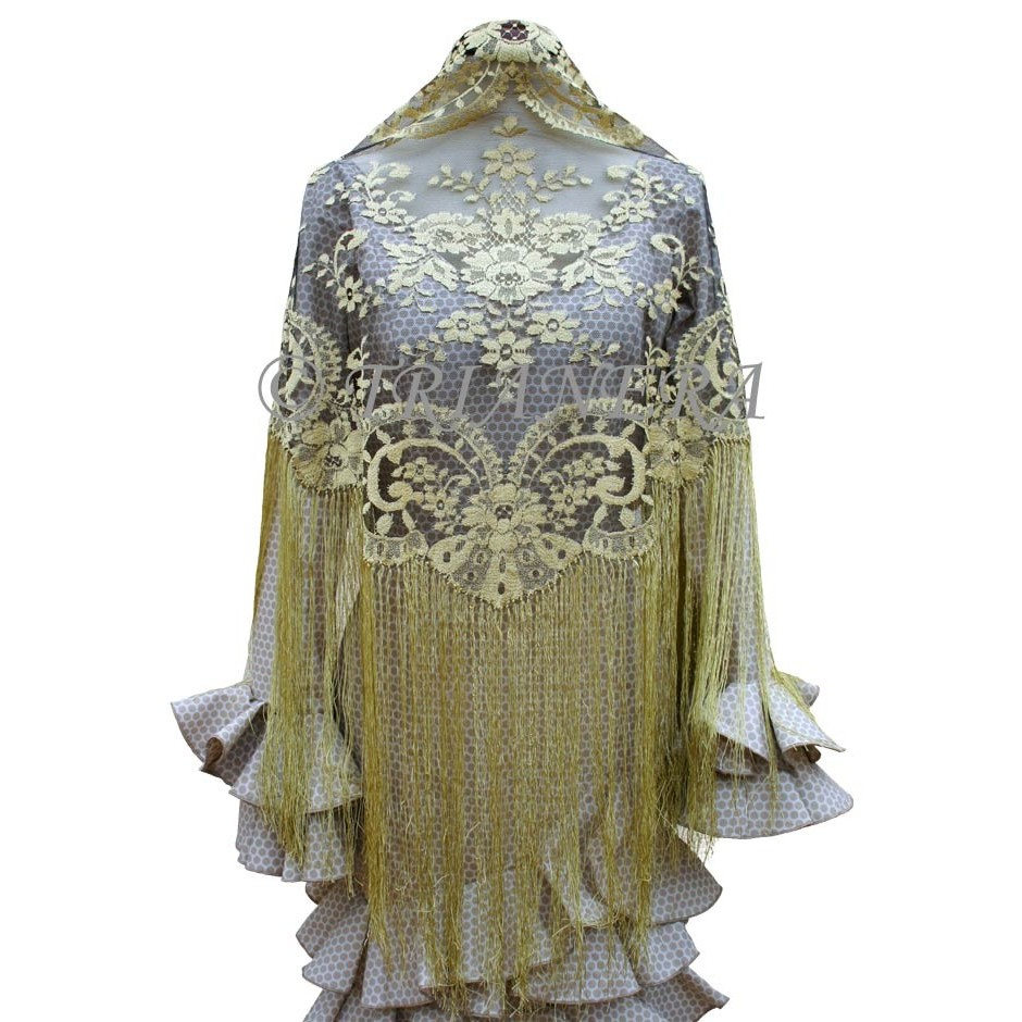 Mantilla (Gold & Black)